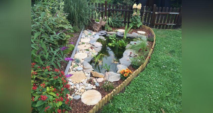 Wir bauen einen kleinen gartenteich - Gartenteich abdeckung ...